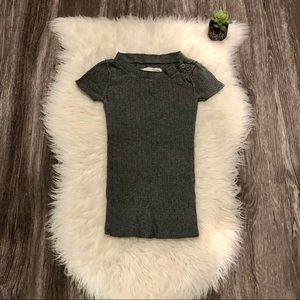 Mossimo Heathered Gray Sweater Shirt Tee